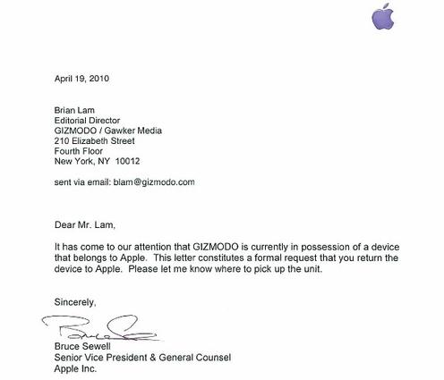 voorbeeldbrief voorstellen bedrijf Apple wil verloren nieuwe iPhone terug » One More Thing voorbeeldbrief voorstellen bedrijf