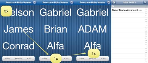 De geheime sleutel die de GBA-emulator tevoorschijn tovert (via iPhoneBlog.de).