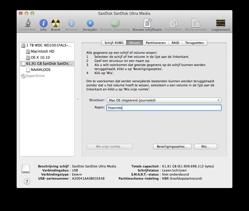 How To: Bootable USB-stick Voor Installatie OS X Yosemite